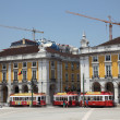 Stock Photo: Commerce square in Lisbon, Portugal.
