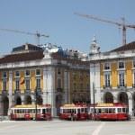 Commerce square in Lisbon, Portugal. — Stock Photo