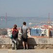 Tourists enjoying the cityscape of Lisbon, Portugal. — Stock Photo