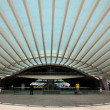 Modern architecture at the Oriente Station (Gare do Oriente) in Lisbon — Stock Photo