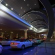 Stock Photo: Taxis waiting at Dubai Airport Terminal 3