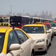 Stock Photo: Taxis in Dubai waiting for customers