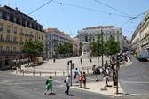 Praça Luis de Camoes, Chiado district in Lisbon, Portugal — Stock fotografie