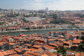 View over Porto and Vila Nova de Gaia, Portugal — Stock Photo