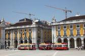 Handel square i lissabon, portugal. — Stockfoto
