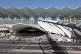Modern architecture at the Oriente Station (Gare do Oriente) in Lisbon — Stock Photo
