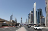 Sheikh Zayed Road in Dubai — Stock Photo