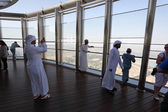 At The Top - the observation deck of Burj Khalifa, Dubai — Stock Photo