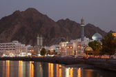 Muttrah Corniche at dusk, Muscat, Sultanate of Oman — Stock Photo