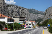 Street in the Croatian town Omis — Stock Photo
