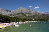 Adriatic beach in Promajna, Croatia — Stock Photo
