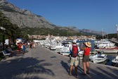 Promenade in the Croatian town Makarska — Stock Photo
