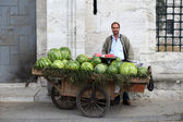 Watermelon seller in Istanbul — Stock Photo
