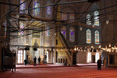 Inside of the Sultan Ahmed Mosque (Blue Mosque) in Istanbul — Stock fotografie