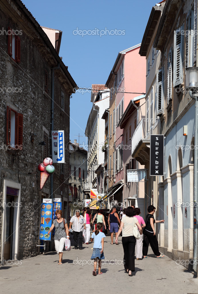 Pula Croatia Streets Street in The Old Town of Pula