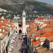 The main street of Dubrovnik - Stradun — Stock Photo