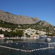 Water polo match in Croatian town Omis — Stockfoto