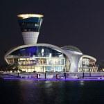 Yas Marina illuminated at night, Abu Dhabi — Stock Photo #8012824