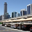 Parking lot at Sheikh Zayed Road in Dubai — Stock Photo