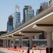 New Metro Line in Dubai — Stock Photo