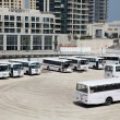 Bus parking in Dubai — Stock Photo #8014454