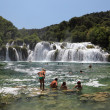 Waterfall in Krka National Park in Croatia. — Stock Photo