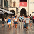The main street in Dubrovnik old town - Stradun — Stock Photo