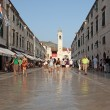 Stradun - main street in the old town of Dubrovnik — Stock Photo