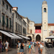 The main street in Dubrovnik old town - Stradun. — Stock Photo