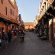 Stock Photo: Street scene in old town of Marrakesh, Morocco.
