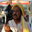 Snake charmer at Djemaa el Fna square in Marrakech — Stock Photo #8016451
