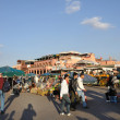 Djemaa el Fna - square and market place in Marrakesh's medina quarter, — Stock Photo #8016543