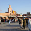 Djemaa el Fna square in Marrakesh — Stock Photo
