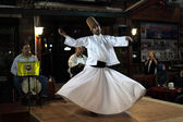 Whirling Dervish dancing in Istanbul, Turkey — Stock Photo
