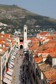 The main street of Dubrovnik - Stradun — Stockfoto