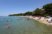 Adriatic beach in Promajna, Croatia. — Stock Photo