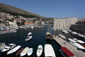 Old port of the historic town Dubrovnik, Croatia — Stock Photo