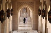Archway in Sultan Qaboos Grand Mosque, Muscat Oman — Foto Stock