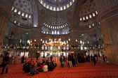 Interior of the Sultan Ahmed Mosque (Blue Mosque) in Istanbul — Stock Photo