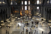Inside of the Hagia Sophia Mosque in Istanbul — Stock Photo