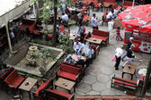 Outdoor cafe in Istanbul, Turkey. — Foto Stock