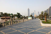 Corniche in Abu Dhabi — Stock Photo