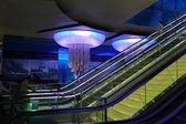 Khalid Bin Al Waleed metro station in Dubai — Stock Photo