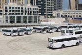 Bus parking in Dubai — Stockfoto