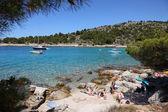 Murter, hırvatistan adriyatik beach. — Stok fotoğraf