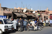 Street scene in Marrakesh, Morocco. — Stock fotografie