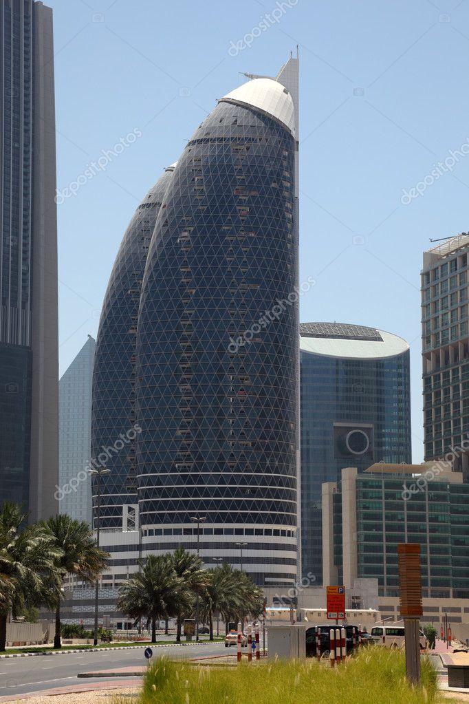 Modern architecture downtown in dubai stock photo for Dubai architecture moderne