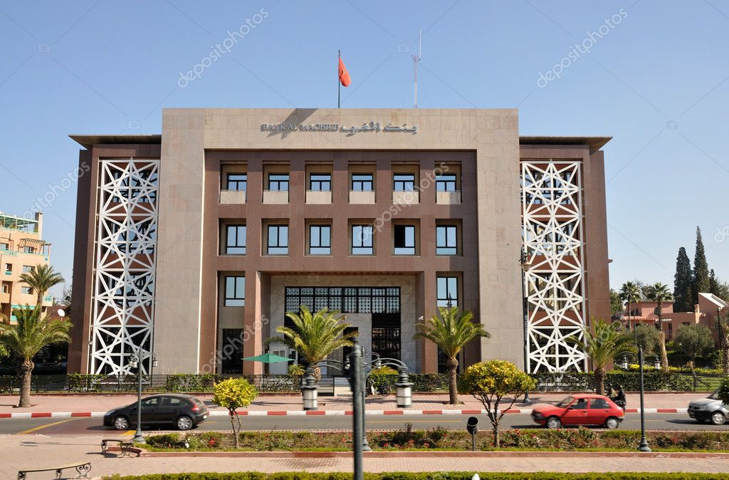 Bank al Maghrib in Marrakech, Morocco.  Stock Photo #8016071