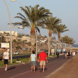 Promenade in Morro Jable, Canary Island Fuerteventura - Stock Photo