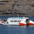 Subcat tourist submarine in Morro Jable, Fuerteventura Spain - Stock Photo